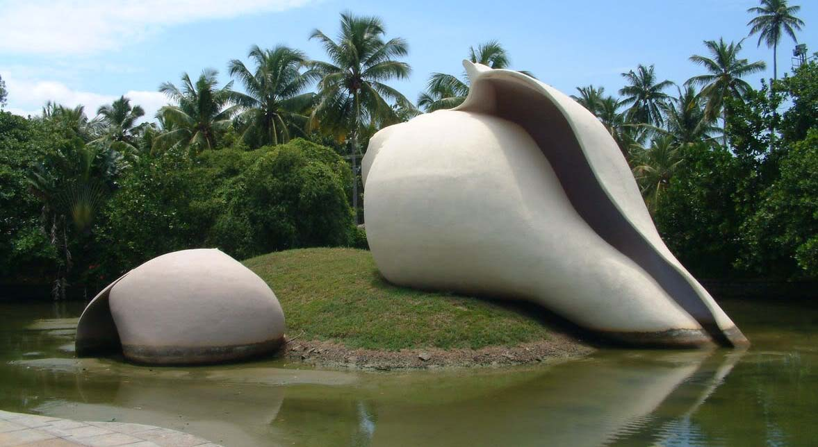 05-Conch-Sculpture-veli-tourist-village-trivandrum