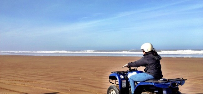 Quad bikes at Payyambalam beach, Kannur